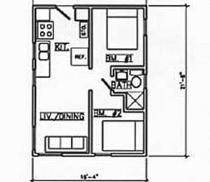 Cabin #4 floorplan