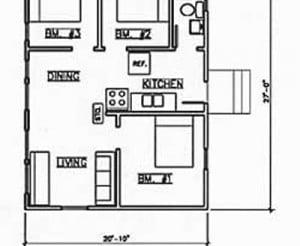 Cabin #5 floorplan