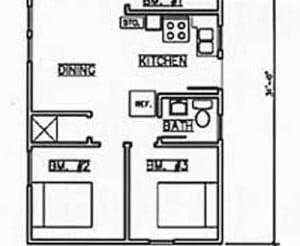 Cabin #6 floorplan